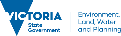 Logo dept environment land water planning victoria
