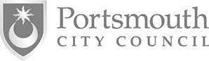 Logo portsmouth city council grey